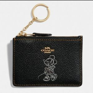 DISNEY x COACH Minnie Mouse Skinny ID Case